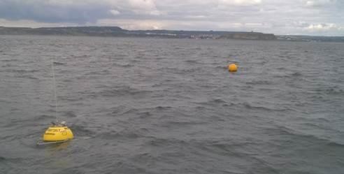 Wave buoy off Scarborough